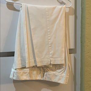 Ann Taylor loft white Capri pants size 10